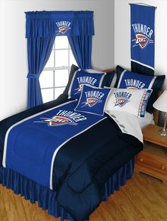 Deck out your (or your kid's) bedroom in style with this Oklahoma City Thunder logo bedding set. Comes in 4, 6 and 9-piece sets.  What are you waiting for?