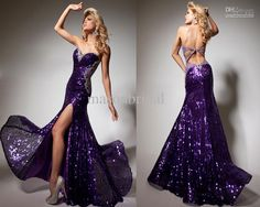 Wholesale 2013 New Style Tony Bowls Sexy Mermaid Sweetheart Floor Length Sequin Backless Evening Prom Dresses, Free shipping, $126.56-145.6/Piece | DHgate
