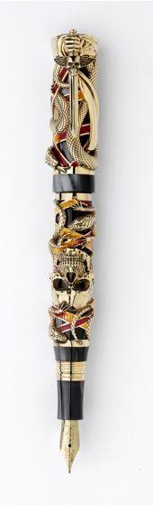 Stylo-plume Chaos de @Montegrappa, or 18 carats || Montegrappa Chaos 18k Gold Fountain Pen #ArtofWriting