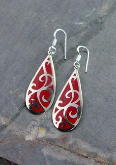 Dharmashop.com - Coral Inlay Silver earrings , $26.00 (http://www.dharmashop.com/coral-inlay-silver-earrings/)