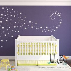 Baby Nursery Stickers étoiles stickers muraux par wordybirdstudios