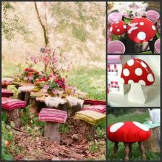 enchanted tea party | toad stool tea party | Enchanted forest party