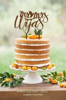 Spersonalizowany Cake Topper - napisy