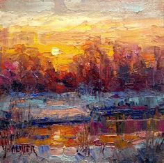Art Talk - Julie Ford Oliver: Sunset on the Bosque