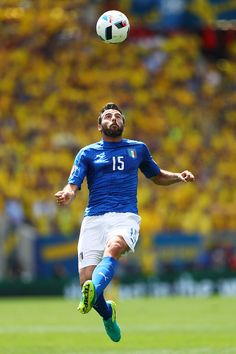 Andrea Barzagli of Italy in action during the UEFA EURO 2016 Group E match between Italy and Sweden at Stadium Municipal on June 17 2016 in Toulouse...