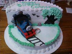 Thomas train bday cake