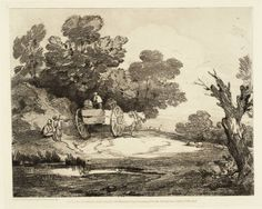 Wooded Landscape with Country Cart and Figures (c. 1775-80)
