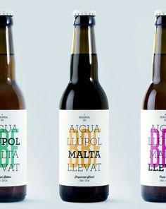 Packaging for the Barcelona Beer Festival designed by Jordi Matosas.