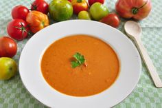CREAM OF TOMATO SOUP WITH FRESH BASIL