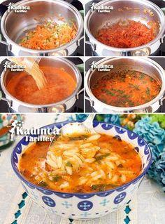 Barley Noodle Soup Recipe with Vegetables - - Sebzeli Arpa Şehriye Çorbası Tarifi Barley Noodle Soup Recipe with Vegetables Pollo Buffalo, Turkish Recipes, Ethnic Recipes, Soup Recipes, Healthy Recipes, Turkish Kitchen, Good Food, Yummy Food, Noodle Soup
