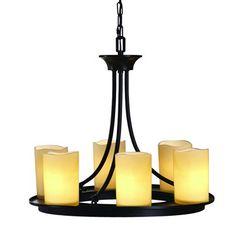 allen + roth Harpwell 6-Light Bronze Hardwired Standard Chandelier
