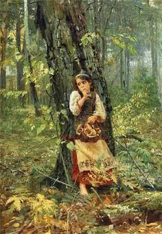 Deep In The Forest by Nicholas Kornilievich Bodarevsky (1850-1921)