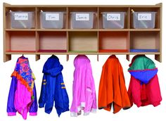 Daycare furniture and preschool locker. Childcare furniture supply for daycare, preschool and kinder Classroom Carpets, Classroom Furniture, Kids Furniture, Kindergarten, Preschool Classroom, Classroom Ideas, Daycare Cubbies, Daycare Organization, Micro Creche