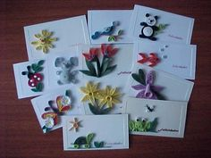 13 Awesome tarjetas con papel filigrana images