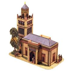Tektonten Papercraft - Free Papercraft, Paper Models and Paper Toys: Antique Papercraft: Moorish Style School Building