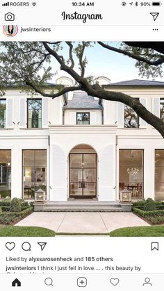 Maybe not as arched on the photo this double glass doo – Inter … - Style Architectural Front Doors With Windows, House Windows, Facade House, The Doors, Arched Doors, Architecture Design, Facade Design, Exterior Design, House Design