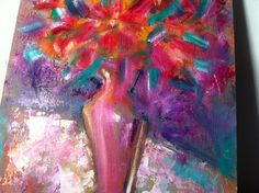 oil ppainting - still life - flowers