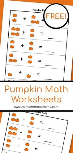 Pumpkin math printab