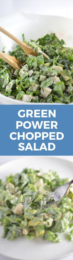 Green Power Chopped Salad @AnotherRoot