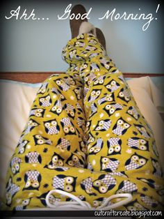 EASY Pajama Pants for any level of sewing experience.  Anyone could make these!
