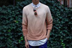 Outfit: Men's Ombre Sweatshirt Orange Is The New... | Closet Freaks | Menswear & Personal Style