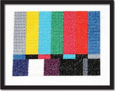 TV Test Screen Cross Stitch Pattern Instant Download
