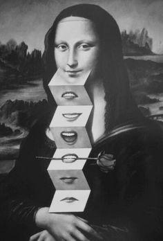 Mona Lisa, Art Print by Rafal Olbinski Le Sourire De Mona Lisa, Mona Lisa Parody, Mona Lisa Smile, Photocollage, Wow Art, Paul Gauguin, Arte Pop, Italian Artist, Magritte