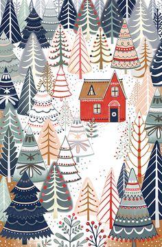 Wallpaper Winter Christmas Print Patterns Ideas For 2019 Noel Christmas, Christmas Design, Winter Christmas, Vintage Christmas, Christmas Crafts, Christmas Decorations, Christmas Patterns, Christmas Doodles, Christmas Fabric