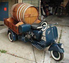 its an Ape with a party barrel ! Vespa Ape, Scooter Motorcycle, Vespa Scooters For Sale, Motor Scooters, Vintage Vespa, Piaggio Vespa, Lambretta Scooter, Hot Bikes, Mini Bike