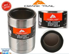 e0d0961eedd Ozark Trail Stainless Cooler New Vacuum Insulated Koozie Cup + Metal Gasket  12oz