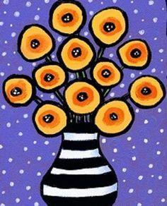 Striped Vase painterspaletteutah.com