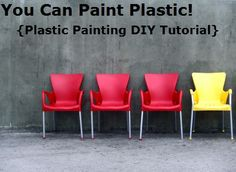 Painting plastic- products to use, how-to tutorial
