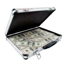 1 Million dollars Stuffed Inside Briefcase