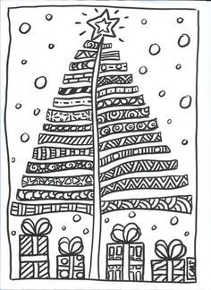 Design a Christmas Tree. One click to print...in French, but easy to follow if you don't know the language!