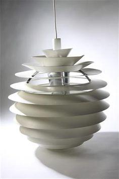 Globe light. Designed by Poul Henningsen, for Louis Poulsen. Denmark. 1950's.