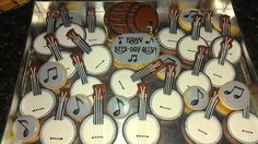 Beer keg and banjo cookie platter Cake by PumsSweets