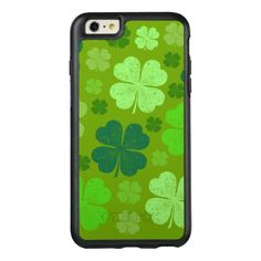 Saint Patrick's Day Four Leaf Clovers - Green OtterBox iPhone 6/6s Plus Case - st patricks day gifts Saint Patrick's Day Saint Patrick Ireland irish holiday party