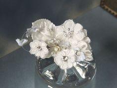 White Wedding vintage head piece by svitlanasbridalveils on Etsy