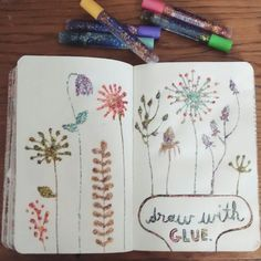 #draw #with #glue #wreck #this #journal #wtj #glitterglue #confetti #glitter