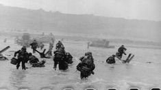 Robert Capa's D-Day pictures: Capa was with the first wave of American troops, landing at dawn.