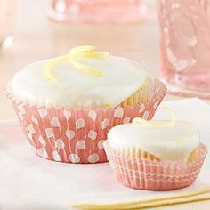 Lemon-Poppyseed Cupcakes:Simple yet elegant, these tender pastries take the cake! Mirror the zesty flavor in these treats with a light lemon glaze and lemon peel garnish.