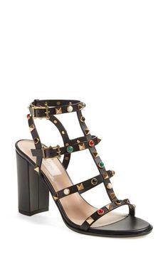 Valentino 'Vitello' Studded Sandal (Women)