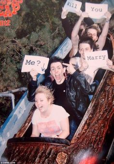 Roller coaster idea will you marry me??