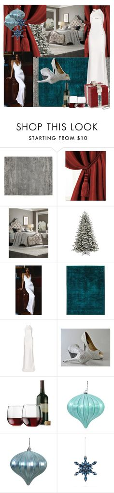 """Christmas in my Boudoir"" by fuschiasilk ❤ liked on Polyvore featuring Elrene Home Fashions, Hooker Furniture, GE, Lurelly, Calvin Klein Collection, Libbey and Baccarat"