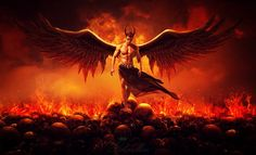 The king of the underworld by CharllieeArts on DeviantArt Male Angels, Angels And Demons, Ange Demon, Demon Art, Dark Fantasy Art, Dark Art, Rukia Bleach, Halloween Photography, Satanic Art