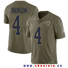 Men's Los Angeles Rams #4 Greg Zuerlein Olive 2017 Salute To Service Stitched NFL Nike Limited Jersey