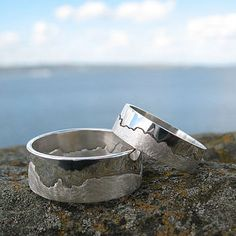 Cool!  They will engrave the rings with a coastline that holds special meaning to you.