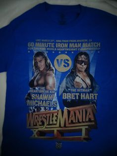 Shawn Michaels VS Bret Hart Iron Man Match Wrestlemania XII WWE Wrestling Shirt #BretHartShawnMichaels #GraphicTee