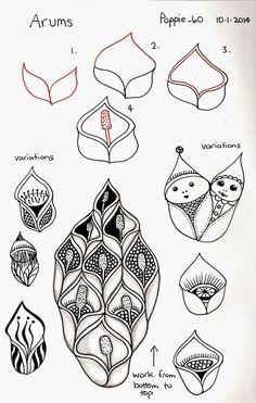 Arums by Lila Popcheff (Poppie).  Awesome Zentangle Pattern.