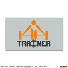 Personal Trainer Exercise Gym Fitness Business Standard Business Card